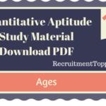 Quantitative Aptitude Ages Study Material