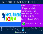 SSC CGL Previous Papers with solutions Tax Assistant  Held 14.12.2008