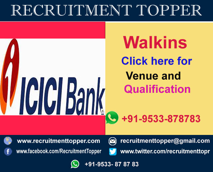 jobs icici bank freshers pune
