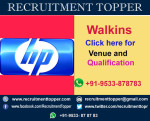 HP Walkins for freshers at Bangalore
