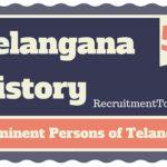 Telangana History Prominent Persons of Telangana