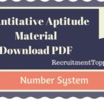 Quantitative Aptitude Number System Tutorial (Study Material)