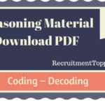 Coding Decoding Reasoning Material for All Competetive Exams | PDF Download