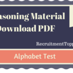 Alphabet Test Reasoning Material for All Competitive Exams | PDF Download