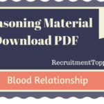 Blood Relationship Reasoning Material for All Competitive Exams | PDF Download