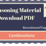 Combinations Reasoning Material for All Competitive Exams | PDF Download