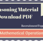 Mathematical Operations Reasoning Material for All Competitive Exams | PDF Download