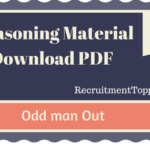 Odd Man Out  Reasoning Material for All Competitive Exams | PDF Download