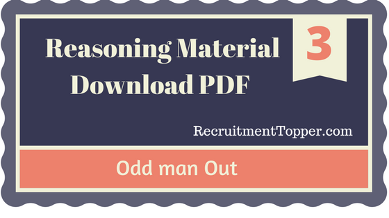 odd man out questions and answers pdf