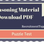 Puzzle Test Reasoning Material for All Competitive Exams | PDF Download