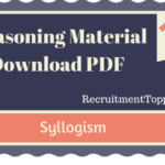 Syllogism Reasoning Material for All Competitive Exams | PDF Download