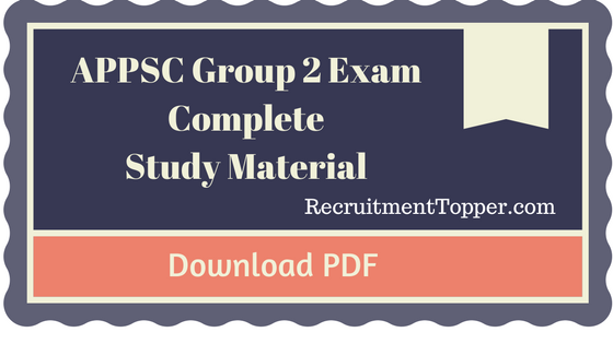 appsc group 2 general studies material free download