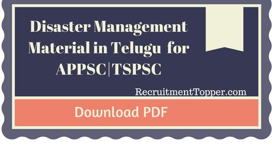 appsc-tspsc-disaster-managementhudood-major-storm