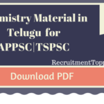 APPSC TSPSC  Group 2 Paper I Chemistry Material in Telugu Download PDF