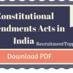 Constitutional Amendments Acts in India PDF Download