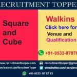 Square & Cube Walkins for Freshers at Bangalore