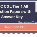 SSC CGL Tier 1 All Question Papers with Answer Key PDF Download