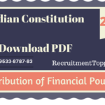 Distribution of Financial Powers | Indian Constitution Download PDF