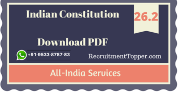 All-India Services | Indian Constitution Download PDF
