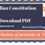 Distribution of proceeds of Taxes | Indian Constitution Download PDF