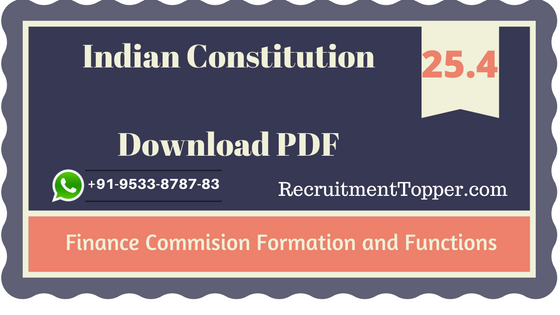 functions-of-finance-commission-and-formation
