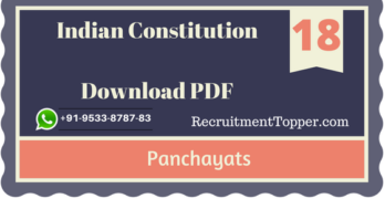 Panchayats | Indian Constitution Download PDF
