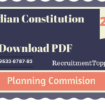 Planning Commission | Indian Constitution Download PDF