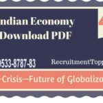 Indian Economy | Post-Crisis—Future of Globalization Download PDF